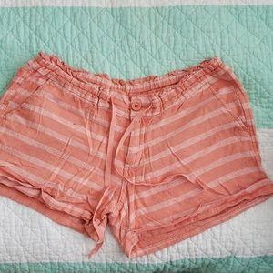 Old navy linen strip short